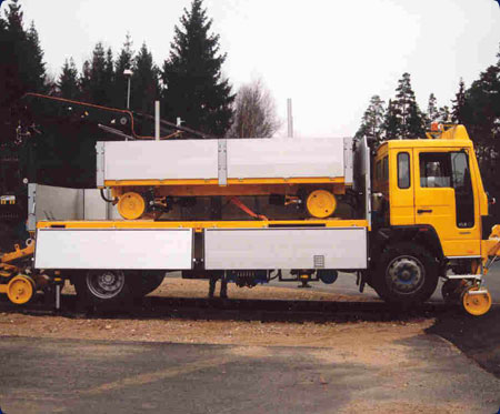 Flat bed trucks and trailers